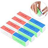 SUPVOX 4-Way Nail Buffer Nail Shiner Sponge Nail Files Sanding Blocks - 10pcs
