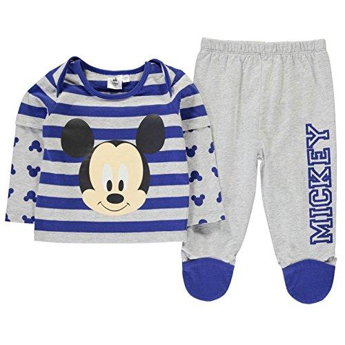 Character Kinder Baby Pyjama Set Schlafanzug Langarm Shirt Schlafhose Baumwolle Mickey Mouse 6-9 Mnth (Pyjamas Mickey-mouse-baumwolle)