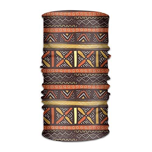 Wfispiy Orange African Stripe Outdoor Wide Headband Elastic Seamless Scarf UV Resistence Sport Headwear for Men&Women Wide Stripe Beanie