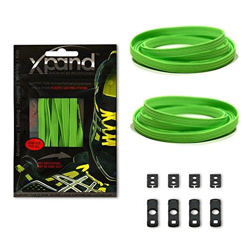 Xpand - Lacci da scarpe adatti per tutte le calzature (verde) 3d48c824952