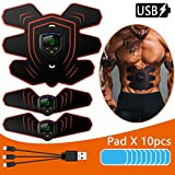 EMS Muscle Stimulator, Muscle Toner Abs Trainer with LCD Display & USB Rechargeable