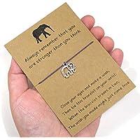 elephant wish bracelet, friendship bracelet, charm bracelet, best friend or sister gift idea, cheer up gift, motivational and positive gift