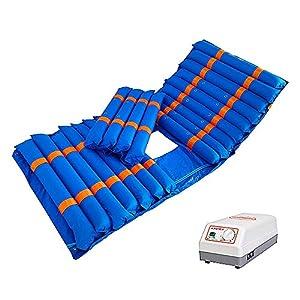 Timedsey Wechseldruckmatratze mit Pumpensystem Der Wechseldruck passt für das Standard-Krankenbett Blau