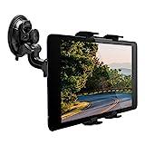 kwmobile Supporto Tablet per Auto - Regolabile 11-20,7 cm orientabile 180° con Ventosa per Vetro Parabrezza e superfici Lisce - Sostegno Universale per Tab iPad