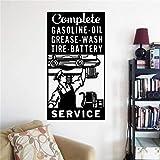 zhuziji Station Service Logo Sticker De Garage Signe Mur Art Sticker Mécanicien Cadeaux Décoration De Voiture Service Murale Vinyle 63x118.5cm