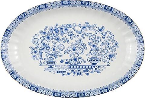 Seltmann Weiden plate porcelain blue size 31 Ø