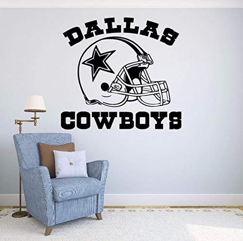 Dalxsh Coole Fußball Logo Sport Wandtattoos New Modische Zitat Dallas Cowboys VinylWandaufkleberHome Abnehmbare Dekoration56X56 Cm