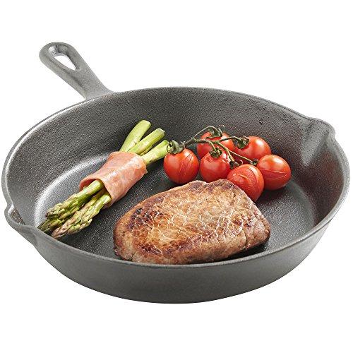 eits eingebrannte gusseiserne Bratpfanne – 25 cm (Ofen-pfanne Deckel)