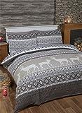 Rapport Norwegermuster 100% gebürsteter Baumwolle Feinbiber Bettwäsche Quilt Bettbezug und
