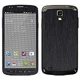 atFolix Samsung Galaxy S4 Active Skin FX-Brushed-Black Designfolie Sticker - Gebürstet/Bürsten-Struktur