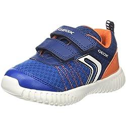 Geox B Waviness C, Zapatillas para Bebés, Azul (Navy/Orange), 27 EU