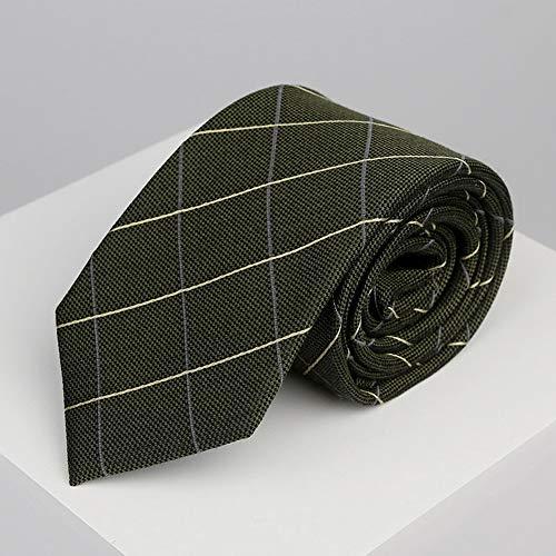 N·XHXL Männer Krawatte, Armee-Grün-Diagonal Gitter-Bindung Für Hochzeit Business Leisure Party, 100{252ba8bb64f532e5d720719ce00095e00b2a91128ee907ff000a297d6febae32} Silkworm Silk Gewebe, Stunning Geschenke Für Ihn
