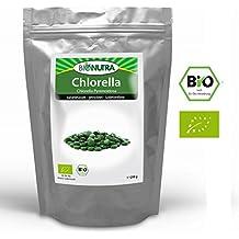 BioNutra Chlorella Bio Presslinge 250 g, 1000 x 250 mg Tabletten, ohne Zusätze, rückstandskontrolliert, aus kontrolliert biologischer Kultur
