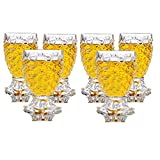 #7: Raincart 100% Crystal Clear Pineapple Shaped Whiskey Glasses | Drinking Glass | Set of 6 Pieces| 250 ml each