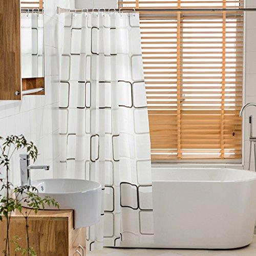 Rideaux de douche Rideau de douche PEVA salle de bains imperméable à l'eau santé protection de l'environnement treillis Durable ( taille : 120x180cm )