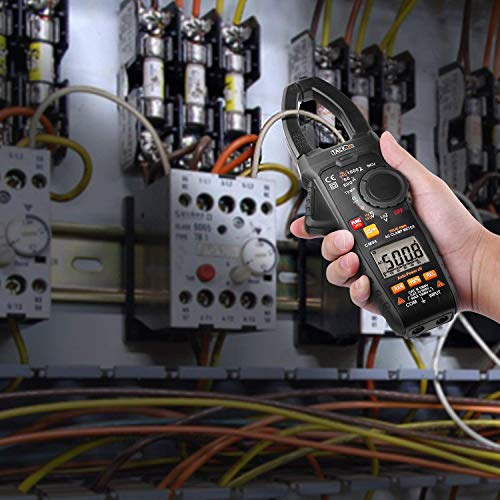 Tacklife CM04 Zangenamperemeter Stromzange 6000 Counts True RMS Strommesszange 1000A Clamp