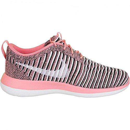 Nike Roshe Two Flyknit Women Sneaker Trainer BRIGHT MELON/WHITE-BLACK