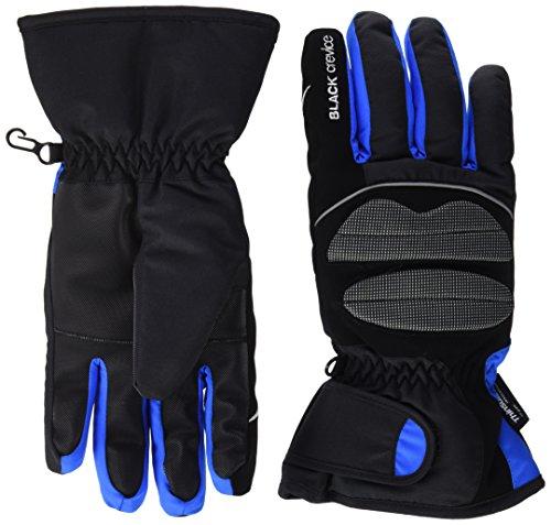 Black Crevice Skihandschuhe für Damen und Herren, schwarz/blau, M/8