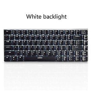 DZSF Gaming Mechanische Tastatur 82 Tastenlayout-Hintergrundbeleuchtung USB-Kabel Anti-Ghosting Schwarzer Schalter PC Gamer