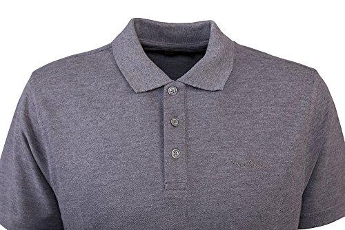 Pierre Cardin Mens Neue Saison klassische Passform Premium Polo T-Shirt aus Baumwolle Holzkohle Marl