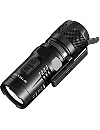Nitecore EC11 Tiny LED Flashlight, 900 Lumens, (IMR18350/RCR123A/CR123A) by LightMen LED Flashlights India