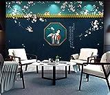 HONGYUANZHANG Schöne Farbe Zeichen Custom 3D Photo Wallpaper Künstlerische Landschaft Tv Hintergrundbild,24Inch (H) X 32Inch (W)
