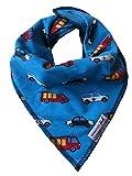 JNY Colourful Kids ♥ Baby Mädchen/Jungen Halstuch ♥ Verschiedene Designs zur Auswahl (türkisblau Tatütata)