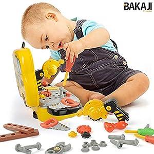 BAKAJI 8050534662092 - Maletín de Herramientas para niños, Juguete con Accesorios, 31 Piezas