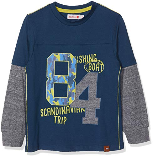5c9164e60254 boboli Knit T-Shirt For Boy, Camiseta para Niños, Azul (Navy 2416
