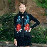Keef Nachahmung Kaschmir - Schal Roten Schal, Herbst - Winter - Schal, danfeng Xiang Stickereien, Stickereien, Verdickun