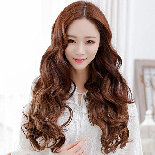 Longless Perücke Haar Stück fünf clip Haar langes lockiges Haar ist nicht reflektierend (Einfach Kostüme Halloween Minute Fünf)