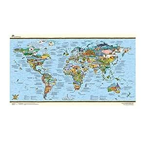 Awesome Maps Mappemonde à gratter (français non garanti)