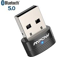 Mpow Bluetooth 5.0 USB Adapter, Bluetooth USB Dongle Stick, Bluetooth Empfänger und Sender für Desktop, Laptop, Drucker, Headset, Lautsprecher, kompatibel mit Windows 7/8.1/10, Linux