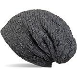 styleBREAKER warme Feinstrick Beanie Mütze mit Flecht Muster und sehr weichem Fleece ...
