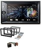 caraudio24 Sony XAV-V631BT 2DIN MP3 USB Bluetooth Aux Autoradio für Alfa Romeo 159 Spider Brera ab 05 Navi