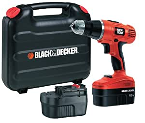 Black + Decker EPC188BK 18V NiCd Hammer Drill (2 Batteries and Kitbox)