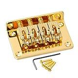 lyws 4-String Top Loading hard-tail Roller Sattel Brücke für die Cigar Box Gitarren Gold