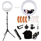 GINSON 18 Inch 240 LED Ring Light Mirror Make Up Beauty Light With Stand For Wedding Photography