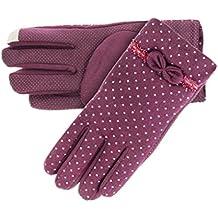 Greenery Womens Ladies Super suave cachemir cálido guantes de invierno/lana cálido para enviar mensajes con forro térmico invierno guantes manoplas/guantes de deportes al aire libre senderismo esquí guantes de ciclismo para mujer, rojo