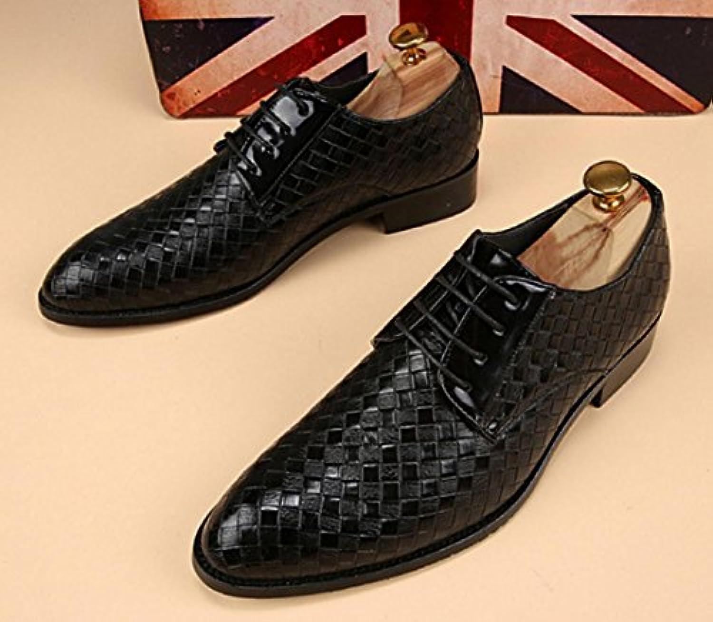 HYLM Peluquería zapatos de cuero Zapatos de los hombres Negocios zapatos casuales Hombres puntería británico zapatos