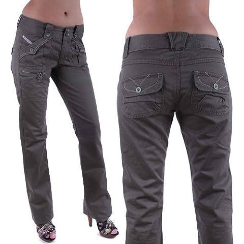 Diesel Pantalones Vaqueros De Mujer Claryst Caqui #12