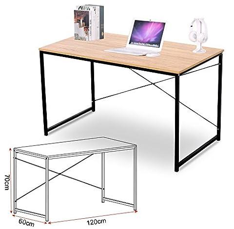 Schreibtische 120x60x70 cm Computertisch PC-Tisch Bürotisch Arbeitstisch Esstisch Holz, TSB04hei