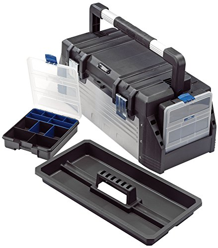 Draper 23309 25L Tool Box With Organisers And Tote Tray