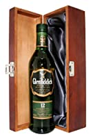 Glenfiddich 12yr Old Whisky with Luxury Hinged Stained Wooden Box by Drinxcom