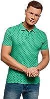 oodji Ultra Herren Baumwoll-Poloshirt mit Feinem Muster