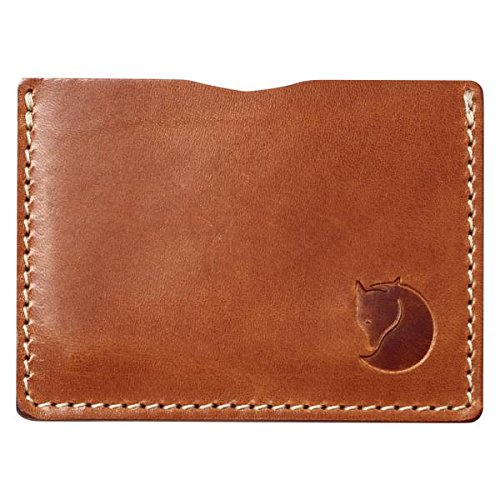 Fjällräven Övik Card Holder Karten-etui, Leather Cognac, One Size