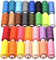 Fmystery Sewing Threads Kits 30 Colors DIY Craft Sewing Thread Polyester 250Yards Per Spools for Hand and Mach