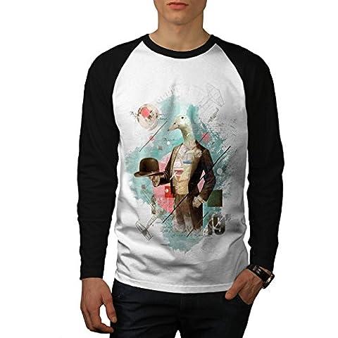Oiseau canard oie Animal Oiseau gentleman Men S T-shirt à manches longues | Wellcoda
