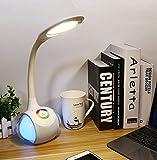 ERKEJI Bluetooth-Lautsprecher führte Audiotischlampe Kreative Bluetooth-Musik-Sound-Tischlampe, die Augen berührt, um Bunte Atmosphäre-Tischlampe zu lerne