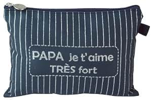 Caroline Lisfranc - Pochette tissée Papa je t'aime très fort
